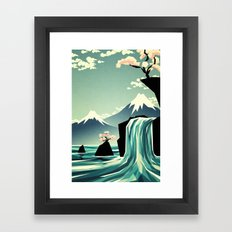 Waterfall blossom dream Framed Art Print