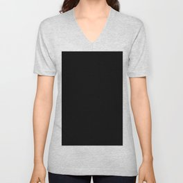 Simply Midnight Black Unisex V-Neck