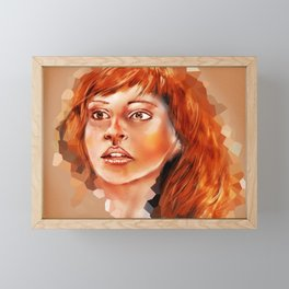 Abstract portrait of Hermione Granger Framed Mini Art Print