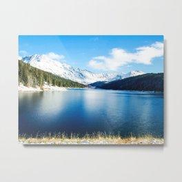 Clinton Gulch // Day Light Mountain Lake Forest Snow Peak Landscape Photography Hiking Decor Metal Print