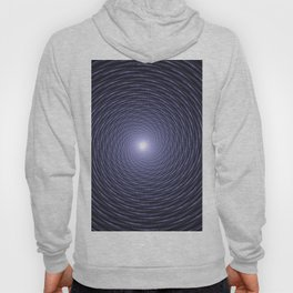 Abstract Fractal Blue Spiral Background Hoody