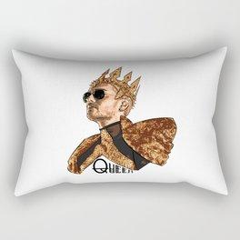 Queen Bill - Black Text Rectangular Pillow