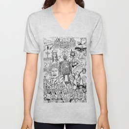 Folk Horror - B&W Unisex V-Neck