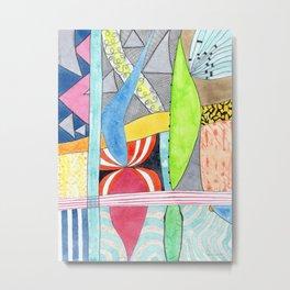 Wonderful Mixture of Geometric and Organic Shapes Metal Print