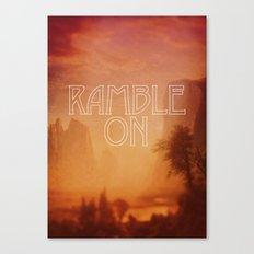 Ramble On Canvas Print