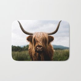 Scottish Highland Cattle in Scotland Portrait II Bath Mat