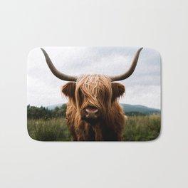 Scottish Highland Cattle in Scotland Portrait II Bath Mat