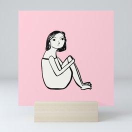 Resting in pink Mini Art Print