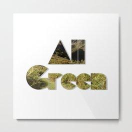 All Green Metal Print