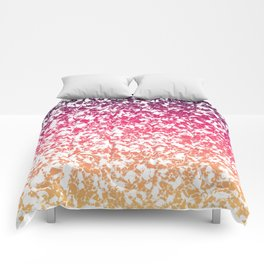 Terrazzo in pink, purple and yellow colors Comforters