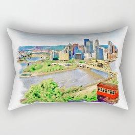 Pittsburgh Aerial View Rectangular Pillow
