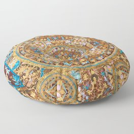 Buddhist Mandala 47 Buddha Mudra Floor Pillow