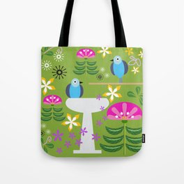 Bird Bath Tote Bag