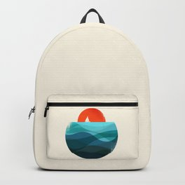 Deep blue ocean Backpack