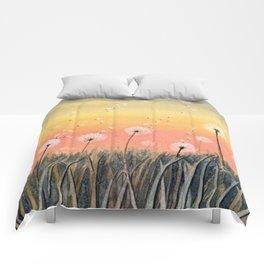 Up, Up and Away - Dandelion Watercolor Comforters