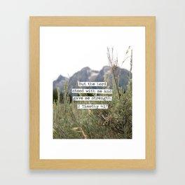 2 Timothy 4:17, Grand Teton Framed Art Print