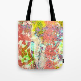 Living Coral abstract Tote Bag