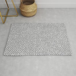 Neutral Farmhouse burlap texture Ultimate Gray Rug