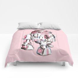 Pink Robot Comforters