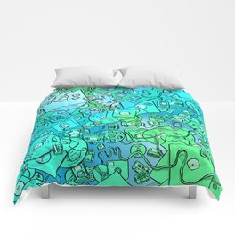 Technology Psychedelic Cold Comforters