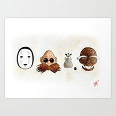 Make the Unlikeliest of Friends, Wherever You Go 2 Art Print