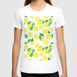 Lemons, tropical pattern T-shirt