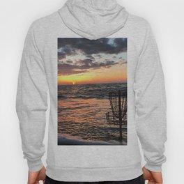 Disc Golf Basket Beach Ocean Innova Discraft Sunset Waves Virginia Vibram Hoody