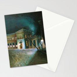 Around Midnight (Budapest East Station) by Tivadar Csontvary-Kosztka Stationery Cards