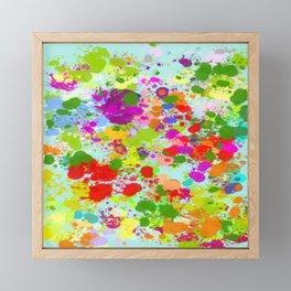 Paint Splattered Sky Framed Mini Art Print