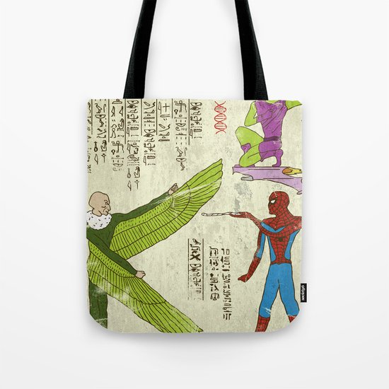 Hero-glyphics: Web-Slinger  Tote Bag