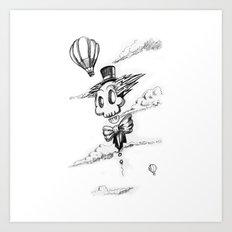 Flying Skull Art Print