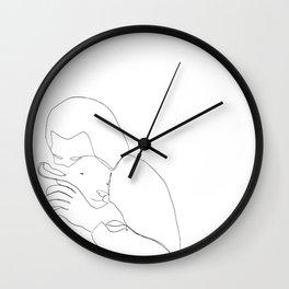 The Good Shepherd line drawing Wall Clock