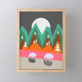 Bears walking home Framed Mini Art Print