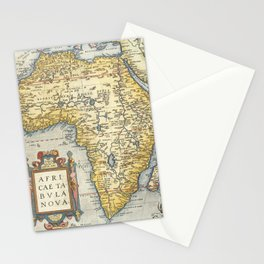 Vintage Map Print - 1595 Ortelius Map of Africa Stationery Cards