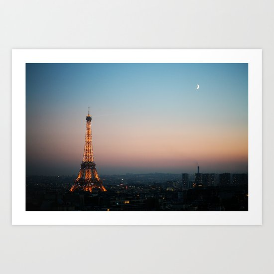 Paris Soft Sunset Art Print