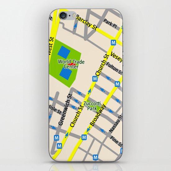 NEW YORK map design iPhone & iPod Skin