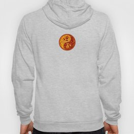 Yellow and Red Yin Yang Roses Hoody