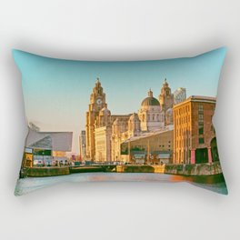 Pier Head and the Albert Dock Rectangular Pillow