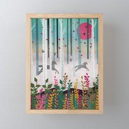 Flying Horses Framed Mini Art Print