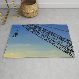 Sunset Construction Crane Rug