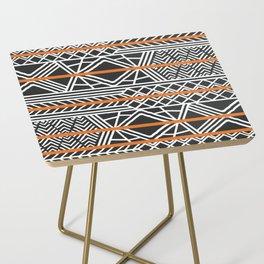 Tribal ethnic geometric pattern 022 Side Table