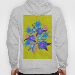 Electric Blue Blooms Hoody