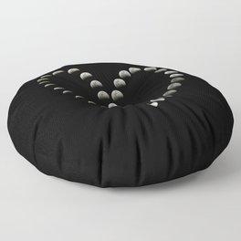 Moon Heart Total Lunar Eclipse Floor Pillow