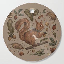 Red Squirrel Cutting Board