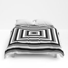 Black and White Squares Comforters