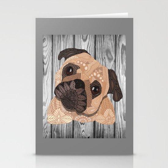 Pug Hug Stationery Cards