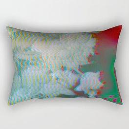 Analogue Glitch Radioactive Bouquet Rectangular Pillow