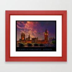 Houses of Parliament - London Framed Art Print