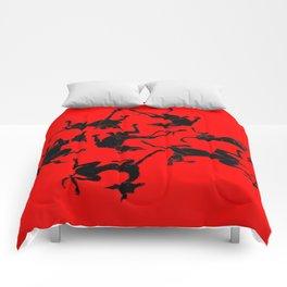 greyhound yoga Comforters
