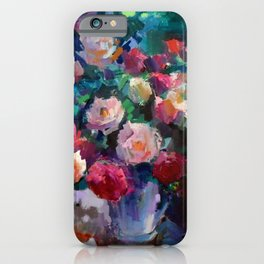 Flowers on The Garden Table iPhone Case